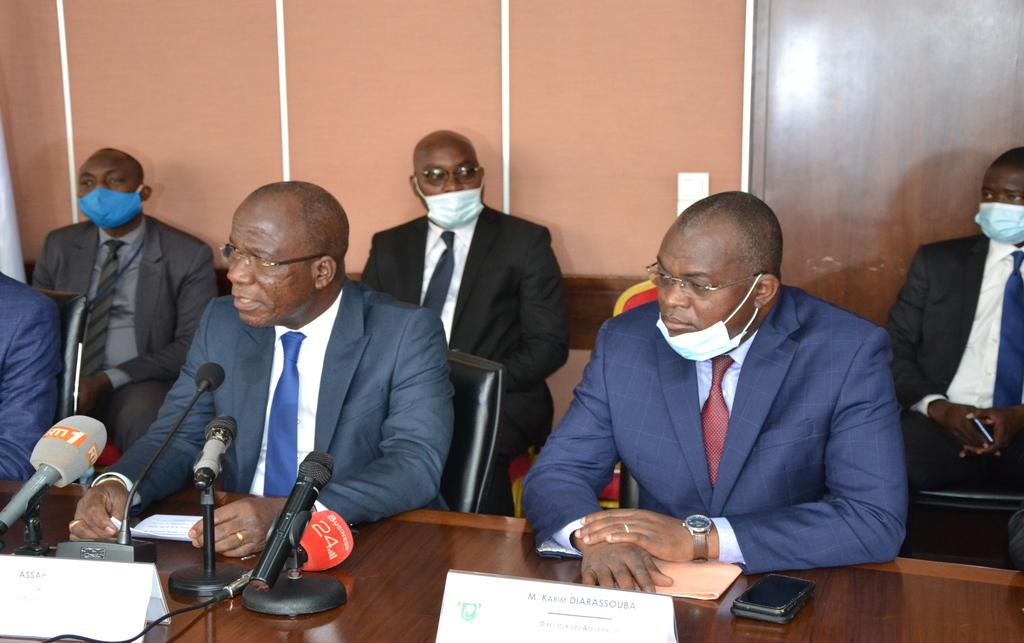 Cérémonie de transfert d'argent aux populations vulnérables suite aux déficits pluviométriques enregistres dans le centre de la cote d'ivoire au cours de la saison agricole 2019  Abidjan, le 1er Octobre 2020
